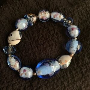 Jewelry - Bracelet made of blown glass and painted detail